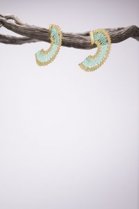 Caribbean green earrings