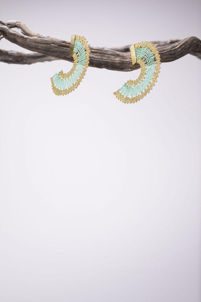 Caribbean green earrings